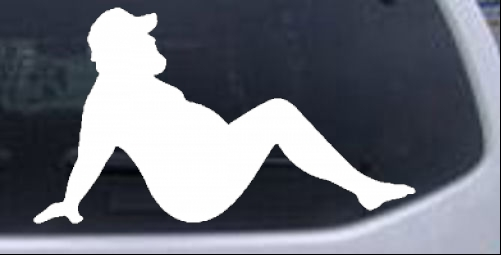 Naked Lady Weight Silhouette Leaning Back