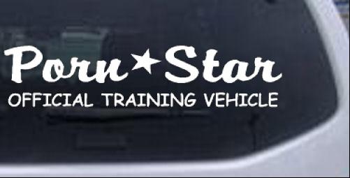 Porn star car or truck window decal sticker