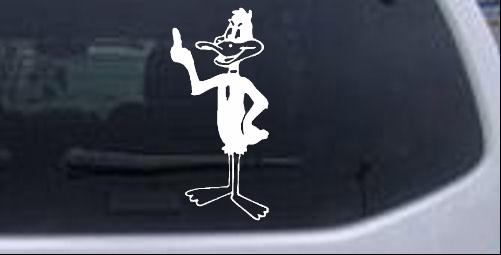 Daffy (Bird) Funny car-window-decals-stickers