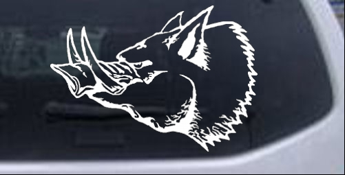 Wild Boar Hunting And Fishing car-window-decals-stickers