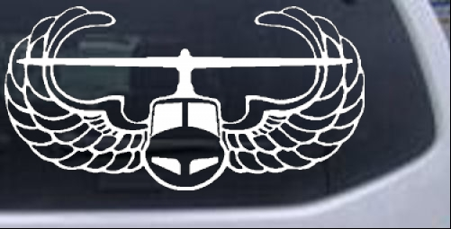 Army 82nd Airborne Car or Truck Window Laptop Decal Sticker White 6X4.5