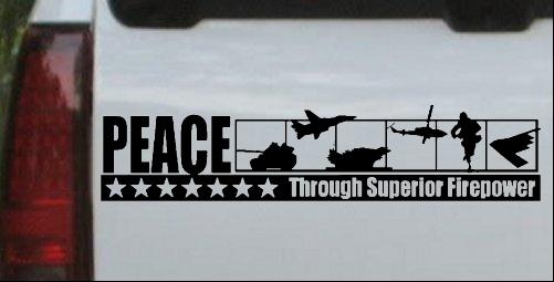 Peace Through Superior Firepower