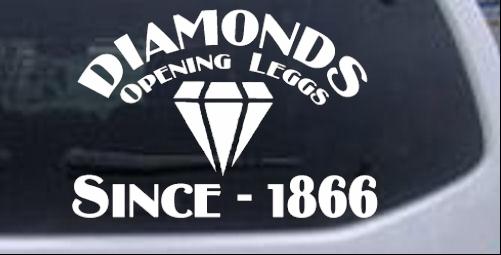 Funny Diamonds Funny car-window-decals-stickers