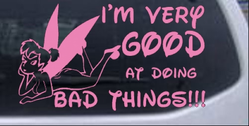 Tinkerbell Tinker Bell Bad Good Funny Sexy Car Truck Window Laptop Decal Sticker