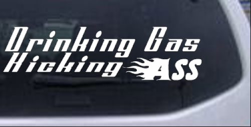 Drinking Gas Moto Sports car-window-decals-stickers