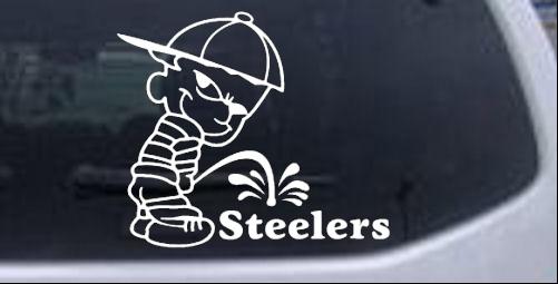 Pee on steelers car or truck window laptop