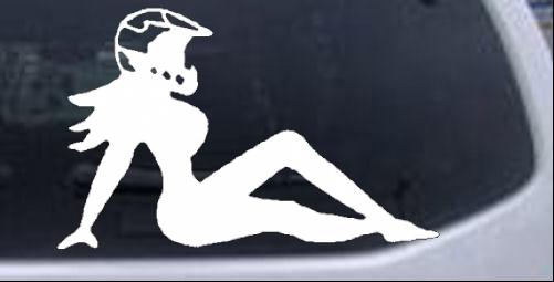 Sexy Moto X Chick Sexy car-window-decals-stickers