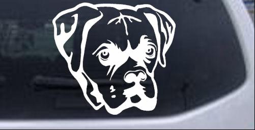 Boxer Bulldog Animals car-window-decals-stickers