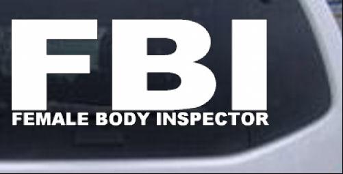 Female Body Inspector Words car-window-decals-stickers