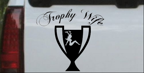 Hunting Trophy Wife Decal