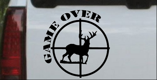 Game Over Deer In Scope Decal