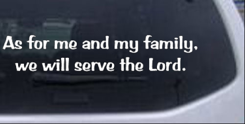We Will Serve The Lord Decal Christian car-window-decals-stickers