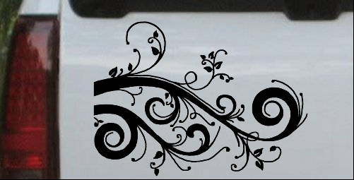 Swirl Vine Wall Decal