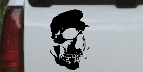 Skull Shadowed Side Decal