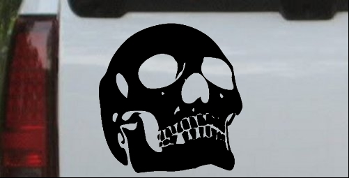 Skull Front View Decal