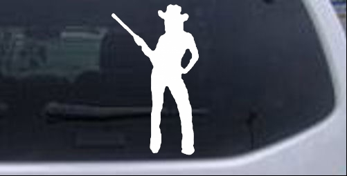 Cowgirl With Gun Decal Western car-window-decals-stickers