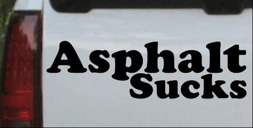 Asphalt Sucks Off Road Decal