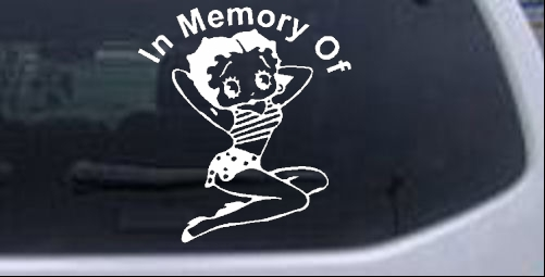 In Memory Of Betty Boop Decal Biker car-window-decals-stickers