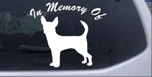 In Memory Of Chihuahua Decal Animals car-window-decals-stickers