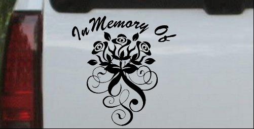 In Memory Of Roses Decal
