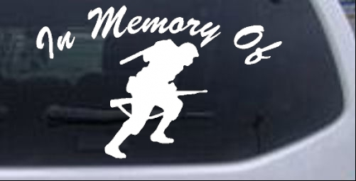 In Memory Of Military Troop Decal Military car-window-decals-stickers