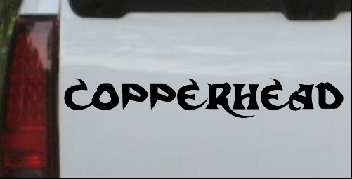 Copperhead Decal