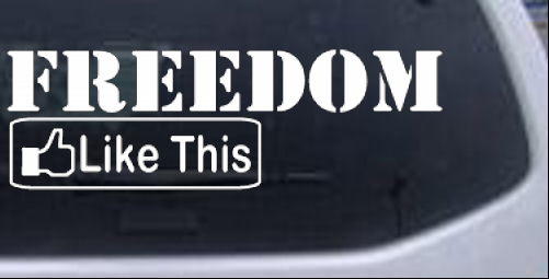 Freedom Like This Decal Military car-window-decals-stickers