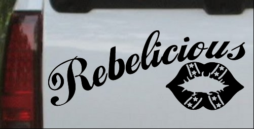 Rebelicious Dixie Lips Decal