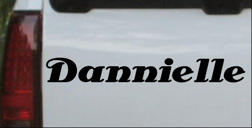 Dannielle Name Decal