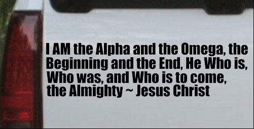 Alpha Omega Almighty Jesus Christ