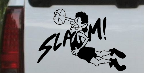 Slam Dunk Basketball Decal