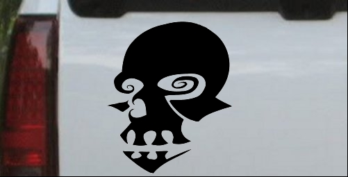 Tribal Skull Mask Decal