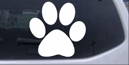 School  Team Paw Print Decal Sports car-window-decals-stickers