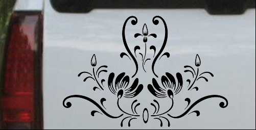 Swirl Flower Wall Door Accent Decal