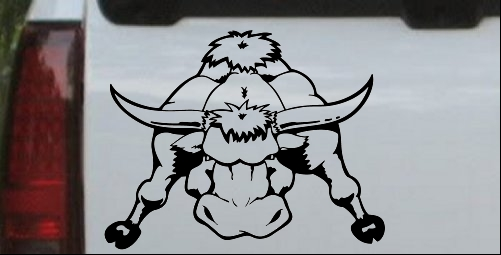 Mean Bad Bull Decal