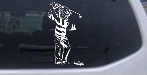 Golf Swing Decal Sports car-window-decals-stickers