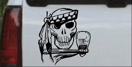 Indian Skull Decal