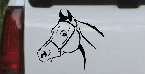 Horse Head Decal