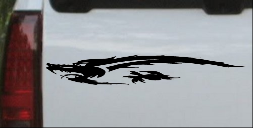 Flying Asian Dragon Decal