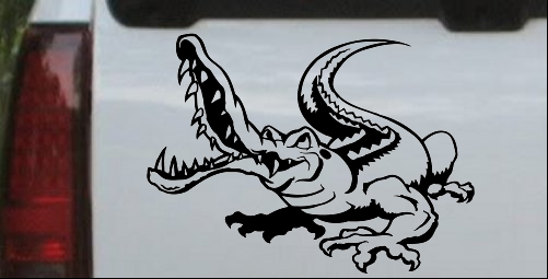 Snapping Gator Decal