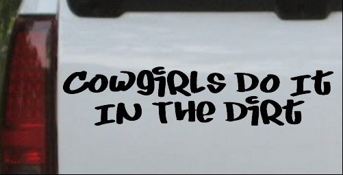 Cowgirls Do It In the Dirt