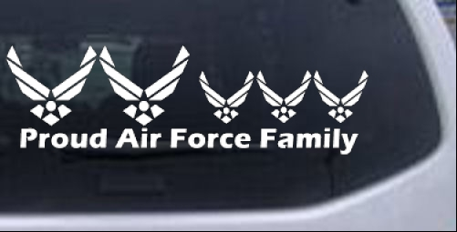 Proud Air Force Stick Family 3 Kids Stick Family car-window-decals-stickers