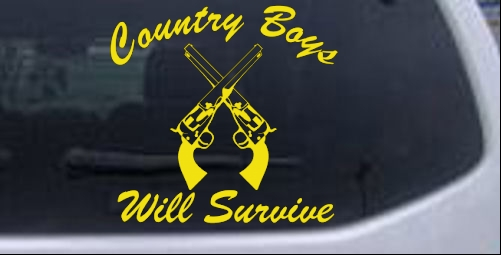 Country Boys Will Survive Car or Truck Window Laptop Decal ...