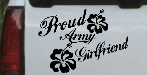 Proud Army Girlfriend Hibiscus Flowers