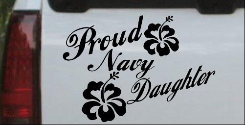 Proud Navy Daughter Hibiscus Flowers