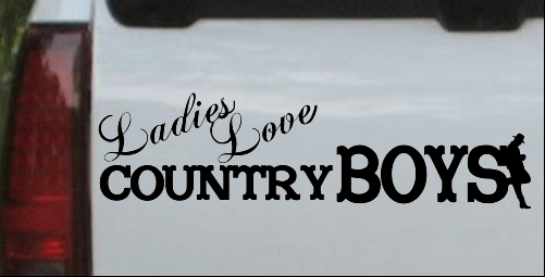 Ladies Love Country Boys Car Or Truck Window Laptop Decal Sticker - Country boy decals for trucks