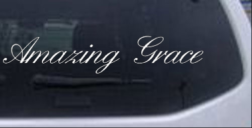 Amazing Grace Christian car-window-decals-stickers