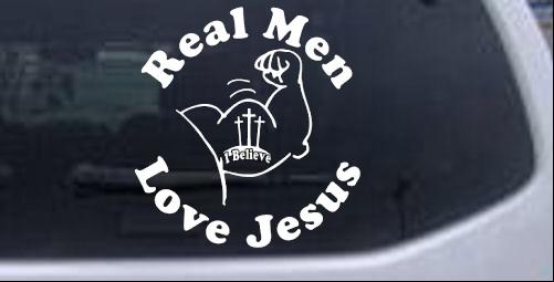Jesus car or truck window decal sticker sample in black sample in white
