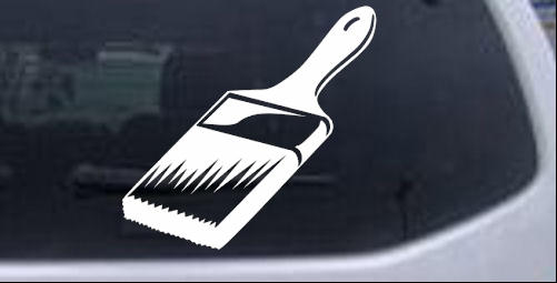 Painter Paint Brush Business car-window-decals-stickers