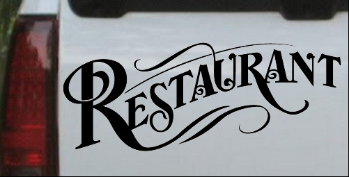 Restaurant Window Sign Decal